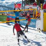 Action pur beim Snowvolleyball in Wagrain
