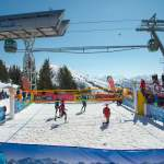 Centrecourt unter Flying Mozart - Snowvolleyball Tour Wagrain
