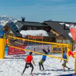 Beim Snow Volleyball Wagrain