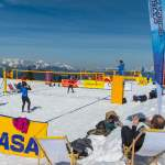 Tolles Panorama beim Snow Volleyball Wagrain
