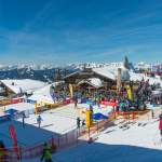 Bergpanorama bei CEV Snow Volleyball EM 2018 Wagrain