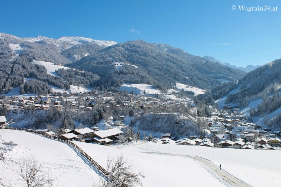 Webcam Ortspanorama Wagrain im Winter